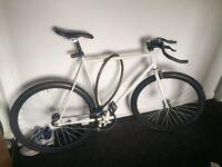 White fixie bicycle