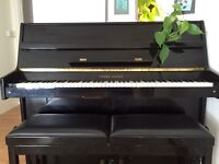 Young Chang Yamaha Upright Piano U 109 Compact Black with Stoll