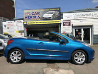 2007 PEUGEOT 207 CC 1.6 16v 120 COUPE SPORT CONVERTIABLE (AA) WARRANTY INCLUDED