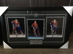 Cadre signé par J. Béliveau, S. Savard & G. Lapointe (Hockey)