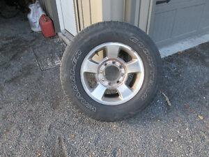 8 bolt aluminum rims & tires & wheel caps