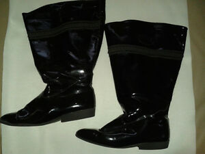 Ladies Wide Calf Leather Boots