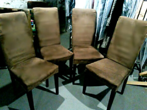 4 Diningroom chairs reduced for quick sale