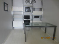 GLASS DINING OR KITCHEN TABLE ...$60.
