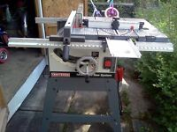 Craftsman heavy duty table saw 10 inch