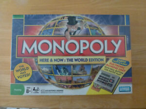 Monopoly Here and Now: The World Edition with electronic bankin