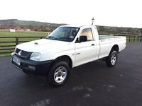 Mitsubishi l200 single cab 4x4 pick up, 2006 (06)reg, tested, in white