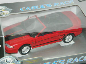Eagle's Race 1/18 Scale 1994 Ford Mustang Diecast Car Red