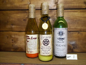 3 PACK LOTS OF SPOOKY COLLECTOR BOTTLES EACH LOT ONLY $5.00