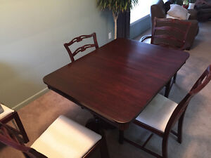 Mahogany Dinning Table with six chairs
