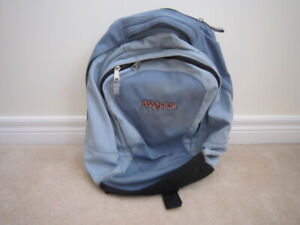 Jansport Backpack w Reinforced Straps Baby Blue Quality Zippers