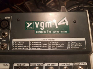 Yorkville Mixer - 14 channel total, 12 mic channels