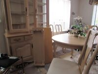Dinning Table and Hutch excellent condition.