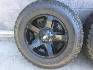 4 pneus homologué 4 saisons LT 275/65r18/mags Fast série HD Jeep