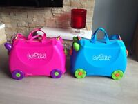 2x Trunki Pink and Blue