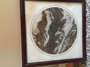 Asian school 20th century marble signed