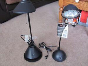 2 Halogen Swivel Desk Lamps