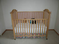 Italian Crib/Todler Bed, Changing Table, Todlers table+2 chairs