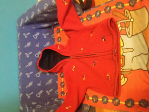 Super warm and thick red fleece coat