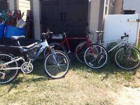 2 bikes on left TRADE for 26oz bottle of Baileys!