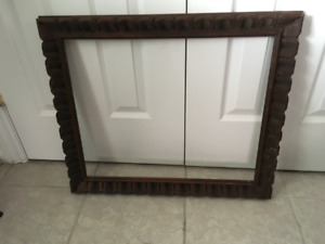ANTIQUE FRAME AND PICTURES