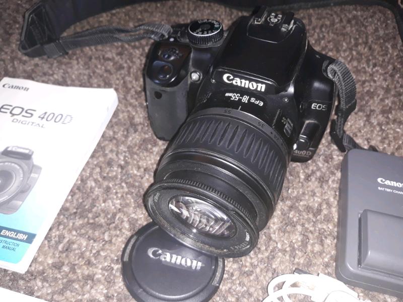 Canon rebel xti eos 400d digital camera user instruction guide.