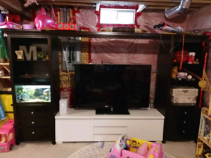 Tv entertainment unit / book shelves / fish tank cabinet