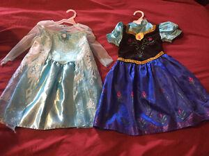 Elsa and Anna dresses size 2