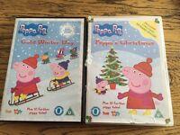 2 Peppa pig Christmas DVDs