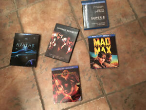 Four Blu-rays and Cowboy Bebop on DVD