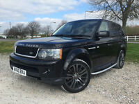 2010 Range Rover Sport 3.0TD V6 HSE COMMANDSHIFT Automatic Diesel in Black