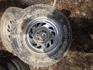 15 inch chrome rims from Jeep