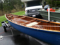 20 Foot River canoe with trailer