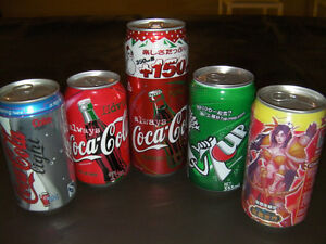 Coca-Cola collector cans