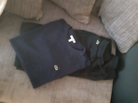 Boys Lacoste tshirt and joggers