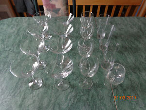 Verres martini, margarita, vin et cocktail grande qualité