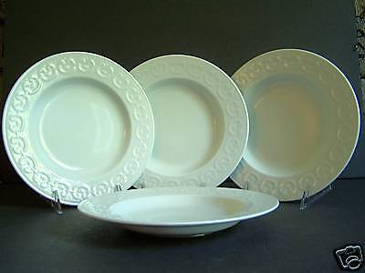 WATERFORD Grafton Street Rim Soup Plates Bowls Set/4 New