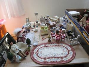 Imported dollhouse furniture to fill your new residence.