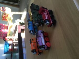 Lot of Wooden Thomas Trains