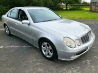 2003 53 Silver Mercedes-Benz E200 Kompressor 1.8 Auto Avantgarde 100K Cheap Merc