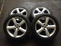 "Audi Q7 genuine 20"" s-line alloys with tyres"