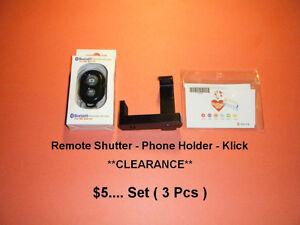 Remote Shutter - Phone Holder - Klick **CLEARANCE**