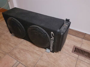 JL SUBS 2 10 inch W1 with Alpine Amp