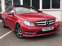 Mercedes C Class C220 CDI BLUEEFFICIENCY AMG SPORT PLUS (red) 2012