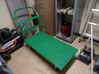 Commercial Green Flat Steel Utility Cart