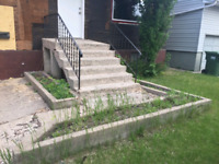 Concrete step demolition and removal