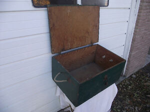 Vintage Plywood Rope Handle Storage Box with Lock and Key Kingston Kingston Area image 3