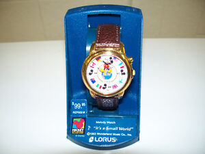 "Lorus ""Its A Small World"" Musical Mickey Mouse Watch New Cir1997"