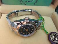 LADIES ROLEX OYSTER DATEJUST PERPETUAL Automatic Watch, black dial