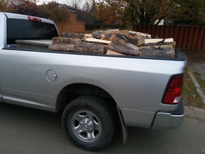 I have seasoned pine firewood delivery and stacking included